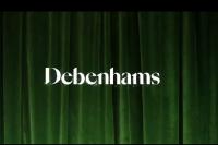 Ilustrasi logo gerai Debenhams Inggris.
