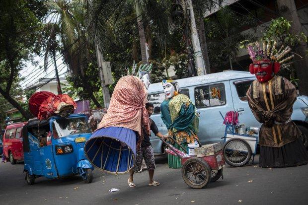Foto: Kampung Ondel-ondel Perlahan Bangkit Kembali - Foto Katadata.co.id