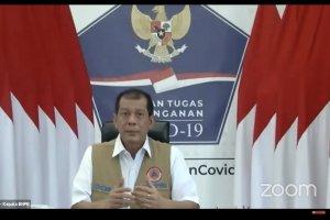 Kepala BNPB Doni Monardo, memaparkan materi dalam acara webinar katadata Ancaman Kebakaran Hutan di Tengah Pandemi