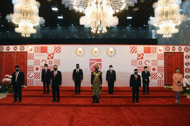 Presiden Jokowi Tiba di Lokasi Sidang Tahunan MPR