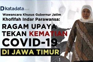 Wawancara Khusus Khofifah, Ragam Upaya Tekan Kematian Covid-19 di Jawa Timur