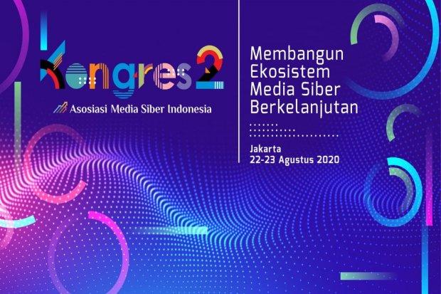 Asosiasi Media Siber Indonesia akan menggelar kongres kedua bertajuk Membangun Ekosistem Media Siber Berkelanjutan pada 22-23 Agustus 2020.