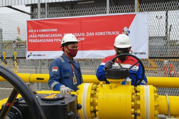 Pertagas Alirkan Gas Perdana ke Pembangkit Listrik Siak Pusako Riau