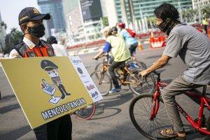 Sosialisasi Penggunaan Masker, Mencuci Tangan dan Berjaga Jarak