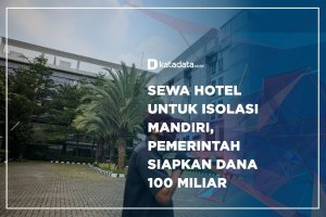 Sewa Hotel untuk Isolasi Mandiri, Pemerintah Siapkan Dana 100 Miliar