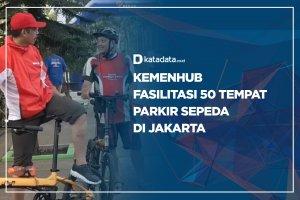 Kemenhub Fasilitasi 50 Tempat Parkir Sepeda di Jakarta