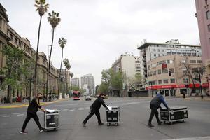 HEALTH-CORONAVIRUS/CHILE-PROTEST