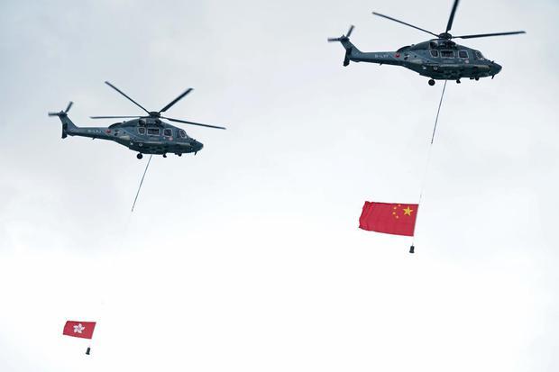 CHINA-ANNIVERSARY/HONGKONG-FLAGRAISING