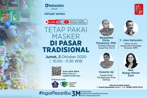 Tetap Pakai Masker di Pasar Tradisional