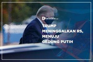 Trump Meninggalkan RS, Menuju Gedung Putih
