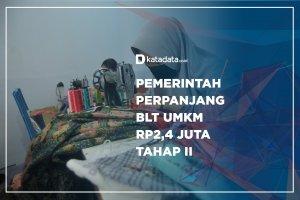Pemerintah Perpanjang BLT UMKM Rp2,4 juta Tahap II