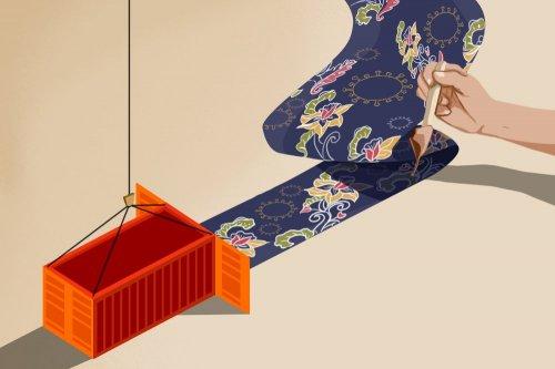Ilustrasi Ekspor Batik