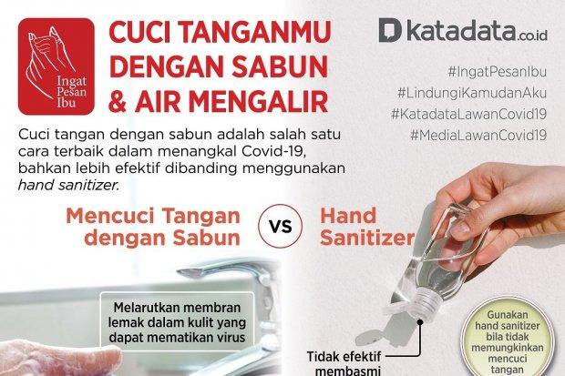Poster Satgas Cuci Tangan Pakai Sabun