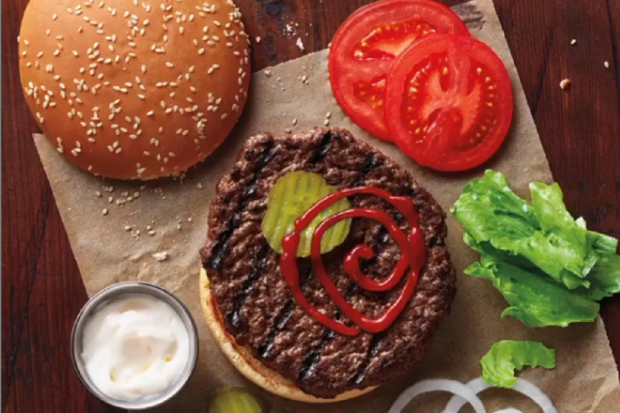 Ilustrasi Whooper Burger milik perusahaan Burger King.