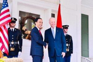 Presiden Joko Widodo dan Presiden AS Terpilih Joe Biden