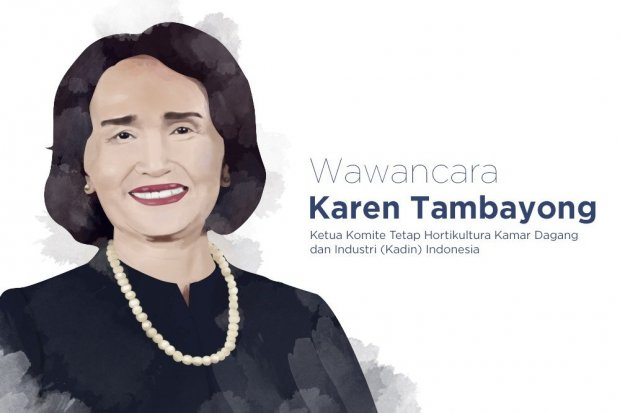 Ketua Komite Tetap Hortikultura Kamar Dagang dan Industri (Kadin) Karen Tambayong