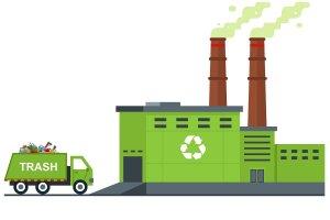 Ilustrasi pembangkit listrik tenaga sampah