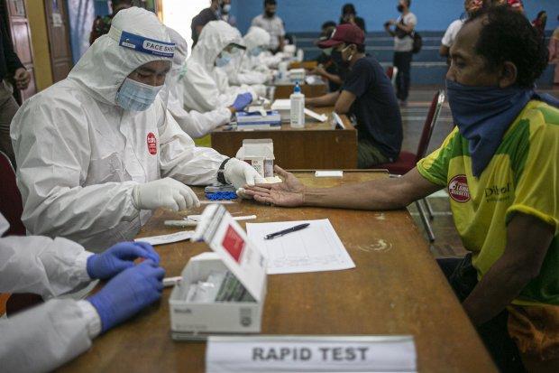 Rapid Test di Kawasan Tebet