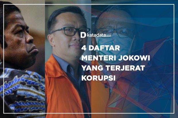 4 Daftar Menteri Jokowi yang Terjerat Korupsi