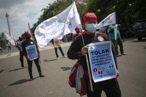 Demo Buruh Tolak UU Cipta Kerja
