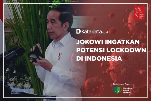 Jokowi Ingatkan Potensi Lockdown di Indonesia