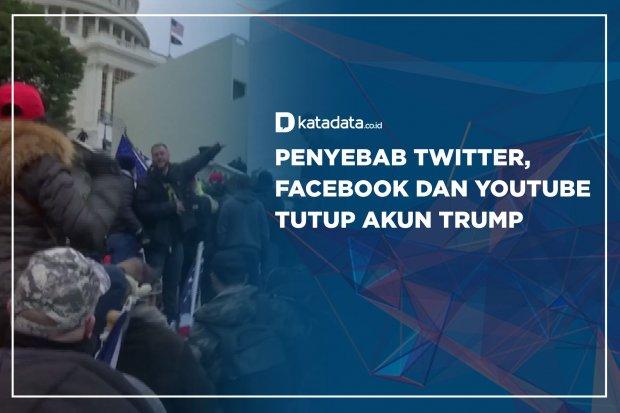 Penyebab Twitter, Facebook dan Yt tutup Akun Trump