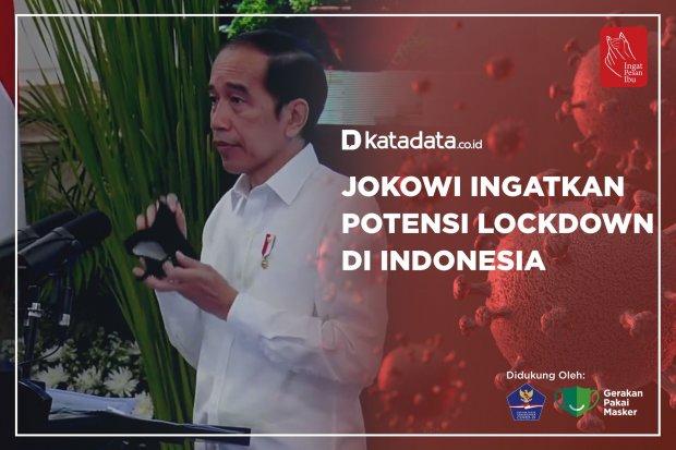 Jokowi Ingatkan Potensi Lockdown di Indonesia 1