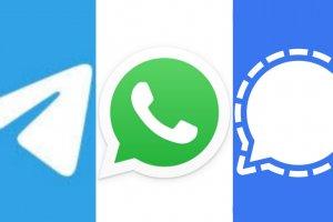 Aplikasi Telegram, WhatsApp, dan Signal