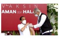 Jokowi Menerima Vaksin Pertama