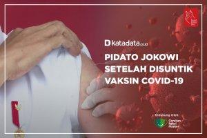 Pidato Jokowi Setelah Disuntuk Vaksin Covid-19