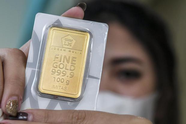 harga emas, antam, evergrande, dolar as