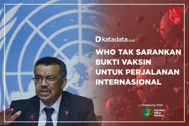 WHO Tak Sarankan Bukti Vaksin untuk Perjalanan Internasional