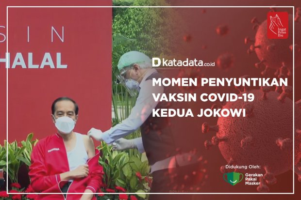 Momen Penyuntikan Vaksin Covid-19 Kedua Jokowi