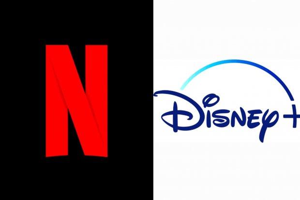 Logo Netflix dan Disney+