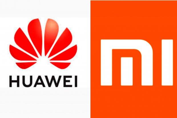 Logo Huawei dan Xiaomi