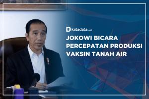 Jokowi Bicara Percepatan Produksi Vaksin Tanah Air
