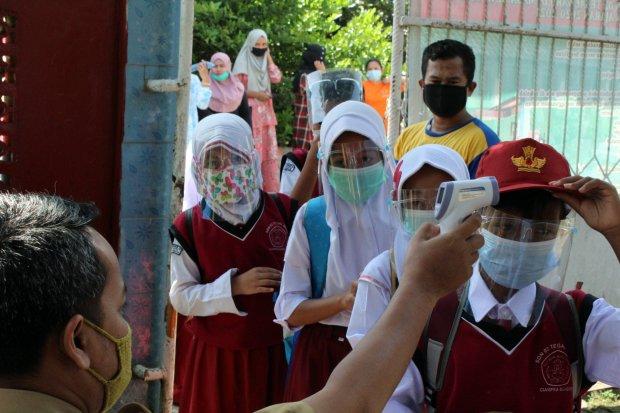 Uji Coba Sekolah Tatap Muka di Kabupaten Bogor