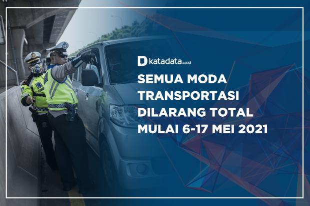 Semua Moda Transportasi Dilarang Total Mulai 6-17 Mei 2021
