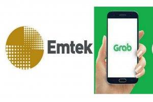 Logo Emtek dan Grab