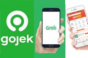 Aplikasi Gojek, Grab, dan Shopee
