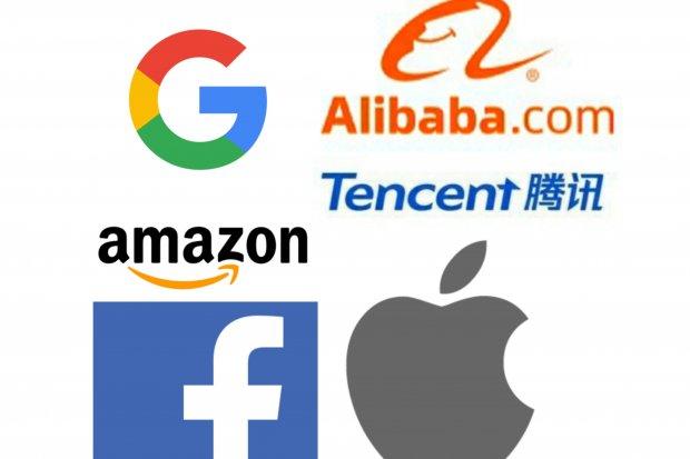 Raksasa teknologi, amerika, cina, alibaba, tencent