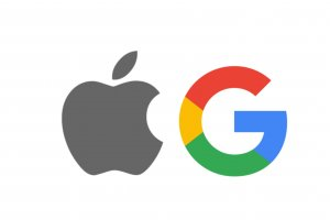 Logo Apple dan Google