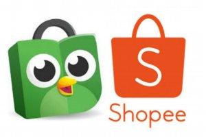 Logo Tokopedia dan Shopee