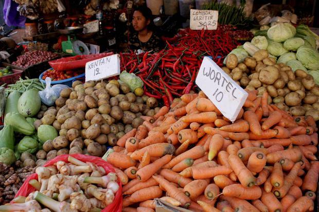 inflasi, deflasi, BPS, harga pangan