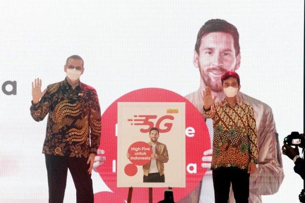 Indosat meluncurkan jaringan 5G di Solo, Jawa Tengah, Selasa (22/6/2021)