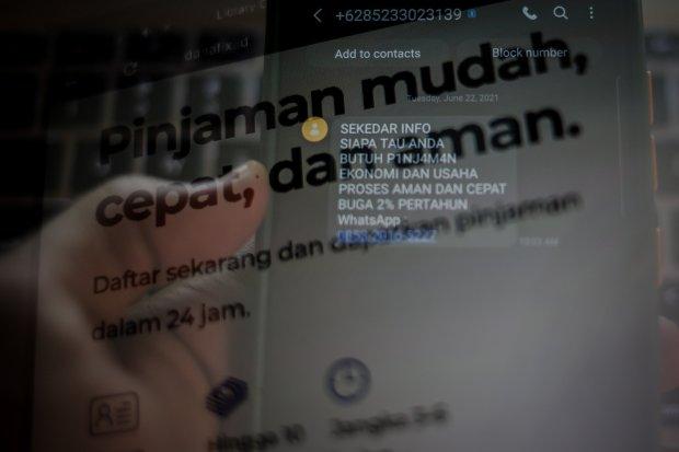 pinjol ilegal, pinjaman online, fintech, kominfo
