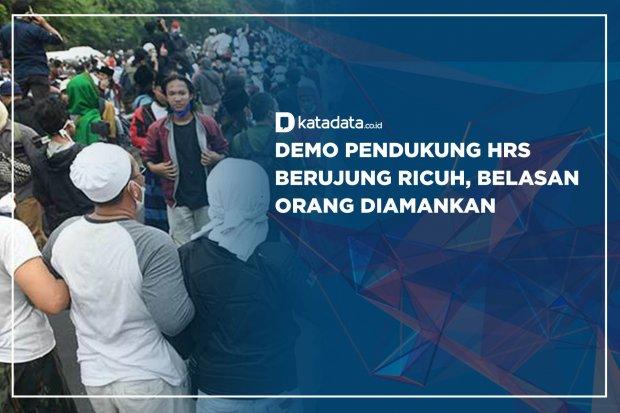 Demo Pendukung HRS Berujung Ricuh, Belasan Orang Diamankan