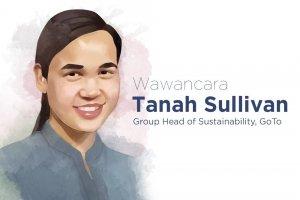Ilustrasi Tanah Sullivan Group Head of Sustainability GoTo