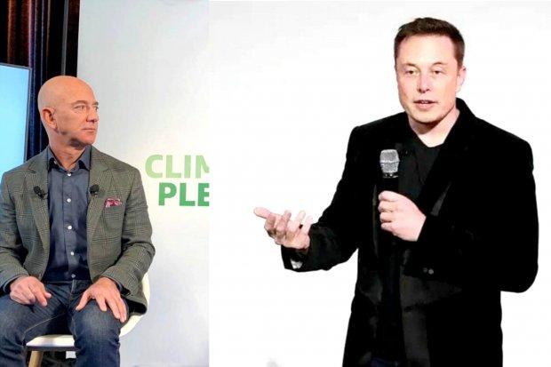 Jeff Bezos dan Elon Musk