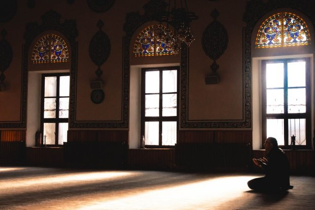 Ilustrasi kegiatan doa setelah sholat dhuha